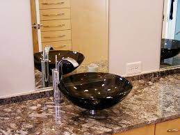 granite bathroom countertops vessel sink