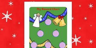 Christmas Chart Images Christmas Sticker Reward Chart 30mm Christmas Sticker