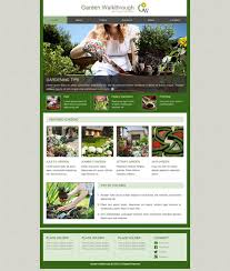 Garden Walkthrough Web Template Free Website Templates Cool Garden Web Design Design