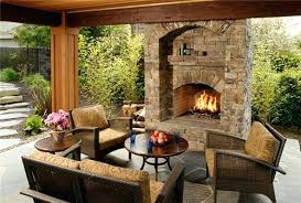 outdoor gas fireplaces backyard fireplace designs
