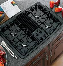 gas cooktop with downdraft. GE Profile™ Built-In Downdraft Gas Modular Cooktop   JGP990BELBB Appliances With A