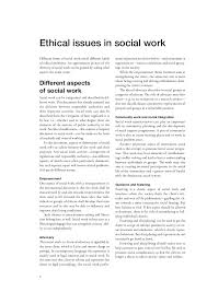 ethics in social work ethical