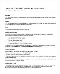 Incident Reporting Template Security Incident Report Security Incident Template 31
