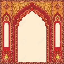 Red Photo Frames Eastern Red Frames Arch Template Design Elements In Oriental