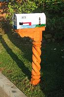 Unique mailbox post Gun Shaped Mailbox Posts Pinterest Unique And Unsusual Mailboxes Plaques And Signs For Sale
