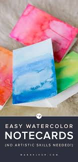 DIY watercolor greeting card makes a fun craft that's also perfect to give  as a gift