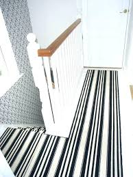 striped runner rugs brown and white