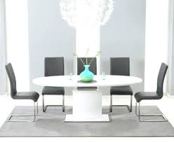 dining table with leather chairs high gloss extending dining table with 6 grey leather chairs round