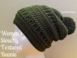 Hipster Beanie Crochet Pattern Best By Jenni Designs Free Crochet Pattern Women's Slouchy Textured Beanie