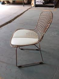 rose gold color bertoia wire chair modern classic wire bertoia chair harry bertoia steel wire side chair loft cafe chair in dining chairs from furniture on
