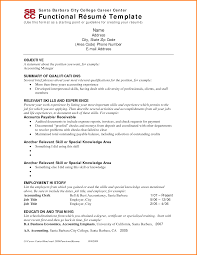 Functional Resume Layout Format Of An Agenda