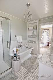 bathroom ideas chandelier traditional bathroom freestanding tub revisiting the master bathroom our