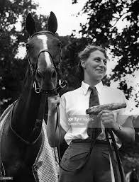 Groom Betty Barton with 'Jackpot' a polo pony belonging to her boss... News  Photo - Getty Images
