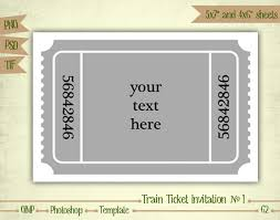 Printable Train Ticket Template Under Fontanacountryinn Com