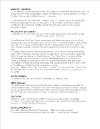 Daycare Mission Statement Templates At