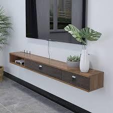 floating shelf wall mounted tv cabinet