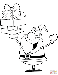 Small Picture Santa Claus Holding Presents coloring page Free Printable