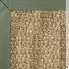 seagrass rug with olive green leather border seagrass rugs the crucial rug