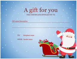 Christmas Gift Certificate Christmas Spirit Design