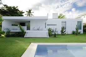 Modern Home Designs Rukle Other Design Terrific Blue Private Swimming Pool  With Amazing Cube White Concrete ...