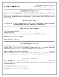Phlebotomy Description For Resume Download 10 Professional