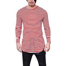 BUSIM Men's <b>Long Sleeved Shirt Autumn</b> Classic Striped Casual ...