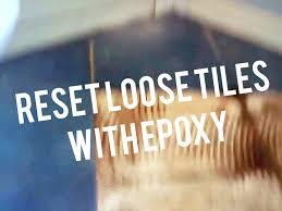 repair ceramic tiles heated bathroom floor loose lifting fix