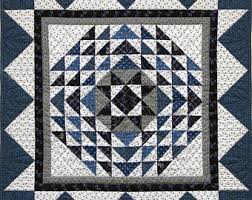 Historical quilt   Etsy & Indigo Star Historically Inspired Quilt by Red Crinoline Quilts, Quilt is  approx. 24