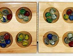 Game With Rocks And Wooden Board How to Play Mancala 27
