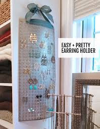 diy frame jewelry hanger lovely make this diy hanging earring holder in 10 minutes or less