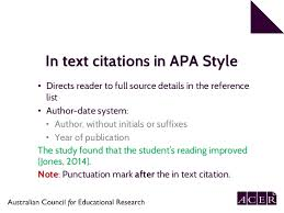 Apa Style Edition 6 Apa 6th Edition Referencing Part 1 In Text Citation