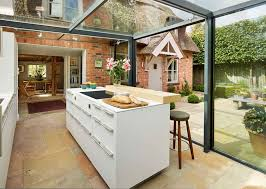 indoor outdoor hybrid kitchen