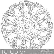 Small Picture Intricate Printable Coloring Pages for Adults Gel Pens Mandala