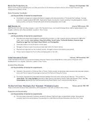 Film Production Resume Template Beauteous Film Resume Template Film Acting Resume Acting Resume Template Best