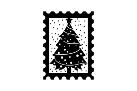 Christmas Stamp With Xmas Tree Svg Cut File By Creative Fabrica Crafts Creative Fabrica