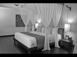White Wood Canopy Bed - YouTube