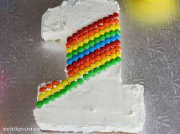 Rainbow Mms First Birthday Cake Tutorial