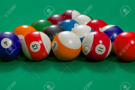 Setting Up A Pool Table Pool Table Beginning Setup Stock Photo Picture And Royalty Free