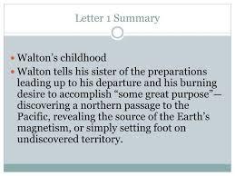 letter 1 summary n