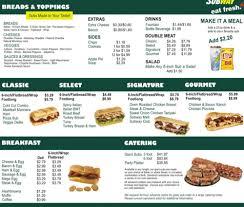subway menu 2013.  Menu Subway Menu With Prices With Subway Menu 2013 A