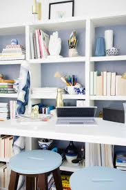 Home office standing desk Elegant Modern Standing Desk Home Office With Bookshelves On thouswellblog Thou Swell Designing Modern Standing Desk Office Thou Swell