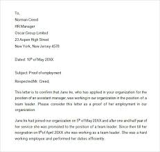 Letter Employment Employment Letter Sample 11 Examples In Word Pdf