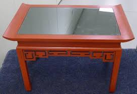 chinoiserie red painted and mirror cocktail table by kittinger red coffee tables