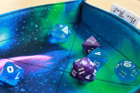 Dice With Lights Northern Lights Aurora Borealis Folding Dice Tray Game