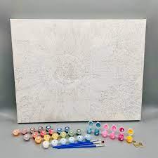 Tranh tô màu theo số sơn dầu số hóa Gam Đức Phật sen hồng TN4050 - Các loại  tranh khác Thương hiệu OEM