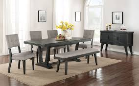 Living Room And Dining Room Sets Imari 6 Piece Dining Room Set Black And Grey Leons