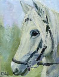 horse head 2010 painting 27x21 cm