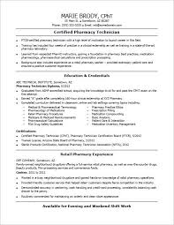 Pharmacy Tech Sample Resume Check Out This Sample Resume For An Entry Level Pharmacy