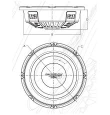 vps102d vega pro shallow subwoofers mobile audio products physical dimensions diagram