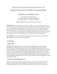 pdf adaptive framework for the rea accounting model